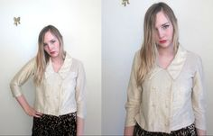 vintage 60's sparkle iridescent cropped jacket by foxandfawns, $54.00