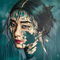 Asian woman oil on canvas - Abstract Portrait Art - Home Decor - Wall Art - Oil Painting - Fine Art - giclee - print by MichelleKohlerArt on Etsy Self Portrait Art, Oil Portrait, Illustration Vector, Portrait Illustration, Abstract Canvas, Oil On Canvas, Abstract Portrait Painting, Portrait Paintings, Fine Art Paintings
