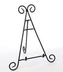 "9"" Black Wrought Iron Stand Easel For Pictures, Spice Racks, Recipes, Books…"