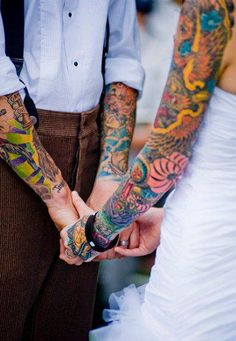tattooed couple | Tumblr