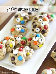 So fun to make with the kids! And, such an easy Halloween recipe! Mini Monster Cookies