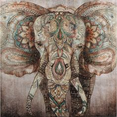 Animal Acrylic Painting Print on Canvas East Urban Home Elephant Tattoos, Elephant Art, Home Bild, Tableau Pop Art, Painting Prints, Art Prints, China Painting, Painting Abstract, Acrylic Paintings