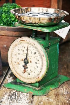 Beautiful vintage weight scale.