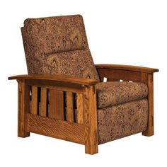 Amish McCoy Mission Wall Hugger Recliner If you'd like maximum comfort, exquisite style, long lasting durability and a space saving seat, check out the top selling McCoy. Built in Amish country. #customfurniture