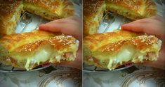 Burger pie: Ingredients: For the dough: Flour 1 egg 1 glass of melted butter and oil (half-and-half) salt 1 tbsp yeast 1 tbsp sugar 1 glass of warm milk - Algerian Recipes, Cuisine Diverse, Good Food, Yummy Food, Quiches, Ramadan Recipes, Arabic Food, Hot Dog Buns, Brunch