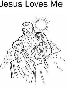 Heavenly Father And Jesus Love Me Sunbeams Coloring Page