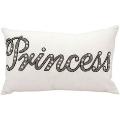 Mina Victory Luminescence Beaded Princess Throw Pillow ($69) ❤ liked on Polyvore featuring home, home decor, throw pillows, white, white throw pillows, beaded throw pillows, white toss pillows, quote throw pillows and patterned throw pillows