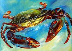 Buy Green Crab, Acrylic painting by Arti Chauhan on Artfinder. Discover thousands of other original paintings, prints, sculptures and photography from independent artists.