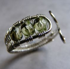 wire wrapped rings   TUTORIAL Beaded wire wrapped toe ring by Aerisjewellerydesign