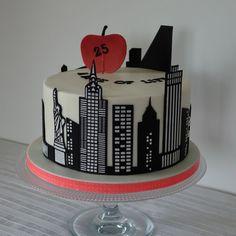 New York skyline on 2D cake - cake thème New-York