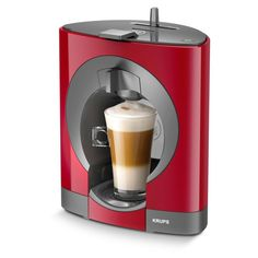 NESCAFE Dolce Gusto Oblo Coffee Capsule Machine by KRUPS - Orange could be the perfect gift. Find more gift ideas at Christmas Gift Ideas 2014 Latte Macchiato, Machine A Cafe Expresso, Coffe Machine, Krups Coffee, Coffee Coffee, Coffee Club, Nescafe, Coffee Pods, Capsule