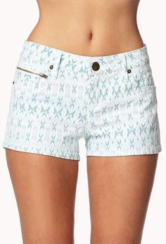 Life In Progress™ Southwestern Print Denim Shorts - Shorts - 2041179533 - Forever 21 UK