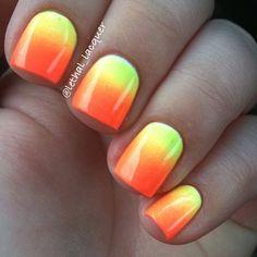 Neon Nails <3  @Jessica Valukis
