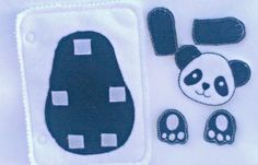 Panda build a book activity book add on page felt quiet book page