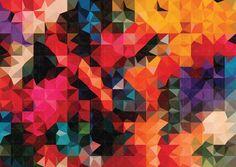 color volumes geometric patterns