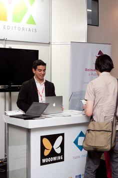 Luiz Silveira, Diretor de Marketing da EPYX, no estande da empresa durante o Fórum Aner 2013. Patricia Bruni.