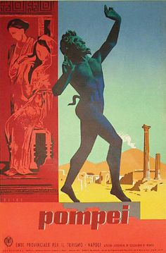 LivItaly Tours loves this poster almost as much as we love Pompeii | Vintage Italian Travel Posters