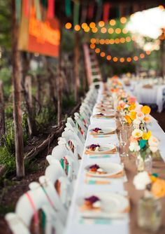 Colorful wedding reception  | photo by Paige Newton | 100 Layer Cake