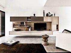 дневник дизайнера: Современные стенки в гостиную. Утонченный минимализм от Cesar Arredamenti