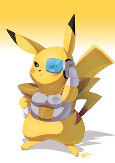 Pokemon-elite-pikachu by TovioRogers Pikachu Art, Cute Pikachu, Pokemon Dragon, Pokemon Go, Goku, Anime Crossover, Old Cartoons, Awesome Anime, Anime Comics