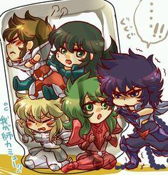 Chibi ! Seiya, Shiryu, Hyoga, Shun et Ikki