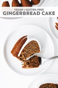 Soft, spiced, sweet, and EASY. This Vegan Gingerbread Bundt Cake is the perfect Christmas recipe with healthier ingredients and dreamy glaze drizzle on top! Gluten Free Treats, Vegan Treats, Gluten Free Desserts, Gluten Free Gingerbread, Gingerbread Cake, Christmas Gingerbread, Best Vegan Recipes, Vegan Dessert Recipes, Free Recipes
