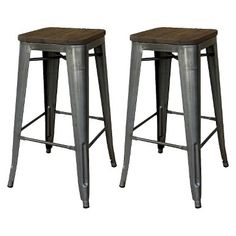 Metal industrial counter height stool - Target Threshold $129/for pair