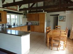 This generous kitchen is big enough to cook up a storm! The Self-catering Waggon House near Port Isaac is a perfect holiday destination.