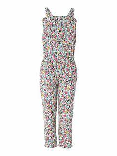 Joules Girls Floral Button Down Jumpsuit