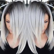 Image result for gray colored hair styles