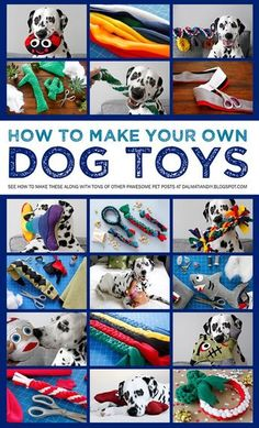 dog toy Want to make your own dog toys Check out our doggone great collection of DIY dogs toy instructions and much more at Dalmatian DIY! Homemade Dog Toys, Diy Dog Toys, Pet Toys, Diy Animal Toys, Diy Toys To Sell, Baby Toys, Diy Pour Chien, Toy Puppies, Rottweiler Puppies