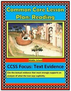 This lesson plan on Text Evidence includes the following: lesson plan instructions, answer keys, sample anchor chart for text evidence, warm-up, vocabulary flash cards with visuals, passages, graphic organizers, exit slip, and vocabulary quiz.