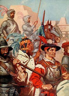ROHM D201 The conquistadors enter tenochtitlan to the sounds of martial music - Conquistador - Wikipedia