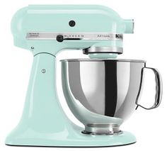 KitchenAid mixer in Ice = WANT NOW!