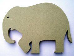 ELEPHANT 8 inch unfinished shape.