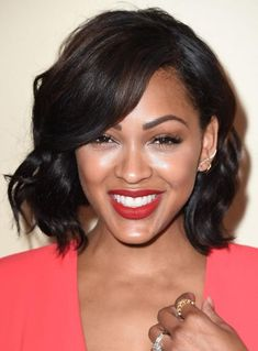 Black Celebrities With Short Hair: A Gallery 19 Gorgeous Short, Black Hairstyles: Meagan Good African Hairstyles, Afro Hairstyles, Black Women Hairstyles, Trendy Hairstyles, Hairstyles 2018, Black Weave Hairstyles, Layered Hairstyle, Gorgeous Hairstyles, Hairstyles Pictures