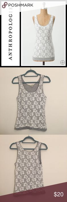 Anthropologie Bordeaux 'Kousa' lace tank Perfect used condition - white lace overlay tank from anthropologie Bordeaux brand. Size small and fits tts Anthropologie Tops Tank Tops