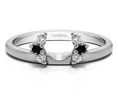 Sterling Silver Mens Wedding Ring Black Diamonds Size 3 to 15 in 1//4 Size Intervals 0.25Ct