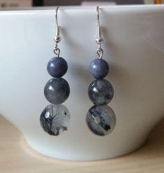 Cloudy Quartz Earrings by BabaJewelryandBeads on Etsy