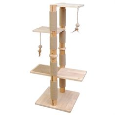 2 viewing platforms with cat toys 1 viewing platform with sisal . 2 viewing platforms with cat toys 1 observation deck with sisal carpet made from untreated pine hi Cat Tree Plans, Cat Castle, Diy Cat Tree, Sisal Carpet, Bois Diy, Wood Cat, Cat Shelves, Cat Playground, Cat Condo