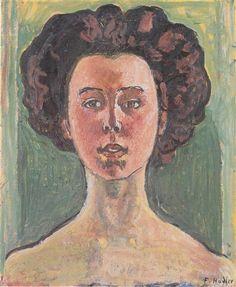 Ferdinand Hodler - Symbolism - Switzerland - Portrait of Gertrud Mueller