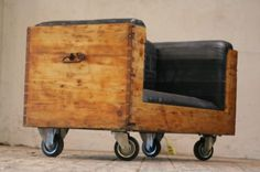 Upcycled Chest and inner tubes into a vintage Sofa Upcycled Furniture