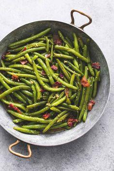 Brown Sugar Green Beans with Bacon | lecremedelacrumb.com