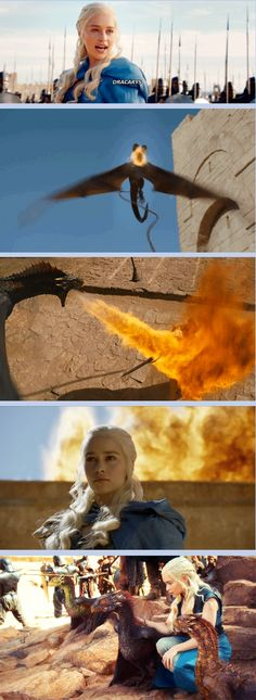 """(gif set) """"Dracarys!""""     Daenerys and Her Dragons     Game of Thrones"""