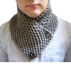 Knit Chunky Neckwarmer Cowl Neck Scarf , Scarf for Men