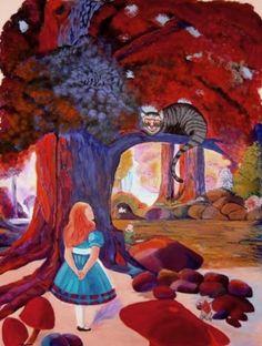 Image Detail For  Alice In Wonderland   Mural 08 By ~wicked On DeviantART |  Annalee Play Room | Pinterest | Akryl, Wicked Och Wonderland Part 43
