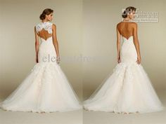 Wholesale 2012 desinger sweetheart neckline lace throughout skirt mermaid wedding dresses 2012 WD1104, Free shipping, $146.27-163.07/Piece | DHgate