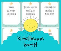 Kiitollisuustaidot Social Skills For Kids, Les Sentiments, Teaching English, Elementary Schools, Mindfulness, Positivity, Activities, Education, Peda