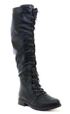 Knee High Lace Up Riding Faux Leather Thigh High Combat Boots ** For more information, visit image link. (This is an affiliate link) Thigh High Combat Boots, Combat Boots Style, High Heel Boots, Knee Boots, Funky Shoes, New Shoes, Doc Martens Boots, Waterproof Winter Boots, Thigh Highs