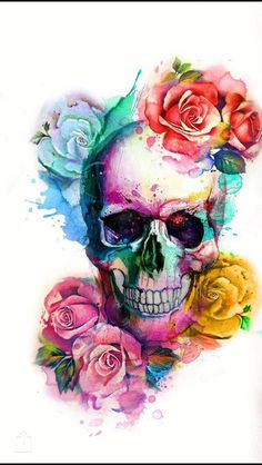 Something like this to represent my battle with chronic pain Skull Pictures, Cool Tattoos, Skull Tattoos, Body Art Tattoos, Sugar Skull Art, Sugar Skull Design, Sugar Skulls, Sugar Skull Wallpaper, Badass Skulls